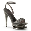 FASCINATE-633 Dark Grey Suede/Chrome